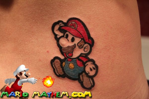 Cute Paper Mario Tattoo