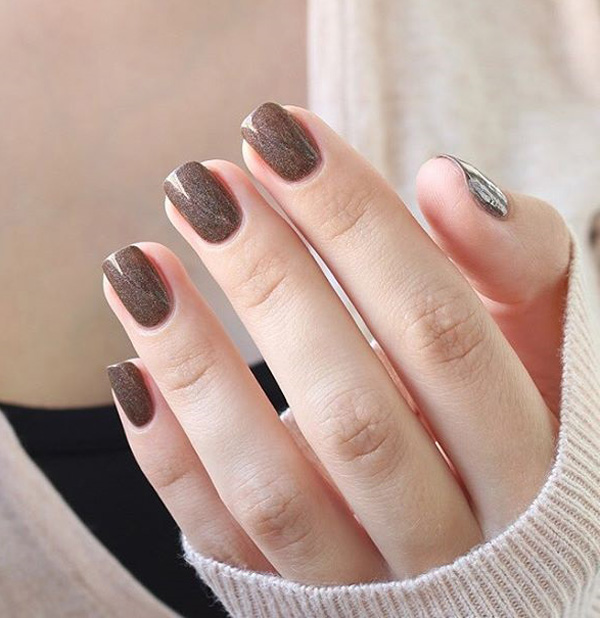 Elegant brown gel nail art prinsesfo Image collections