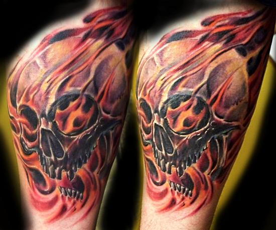 30 flame skull tattoos. Black Bedroom Furniture Sets. Home Design Ideas