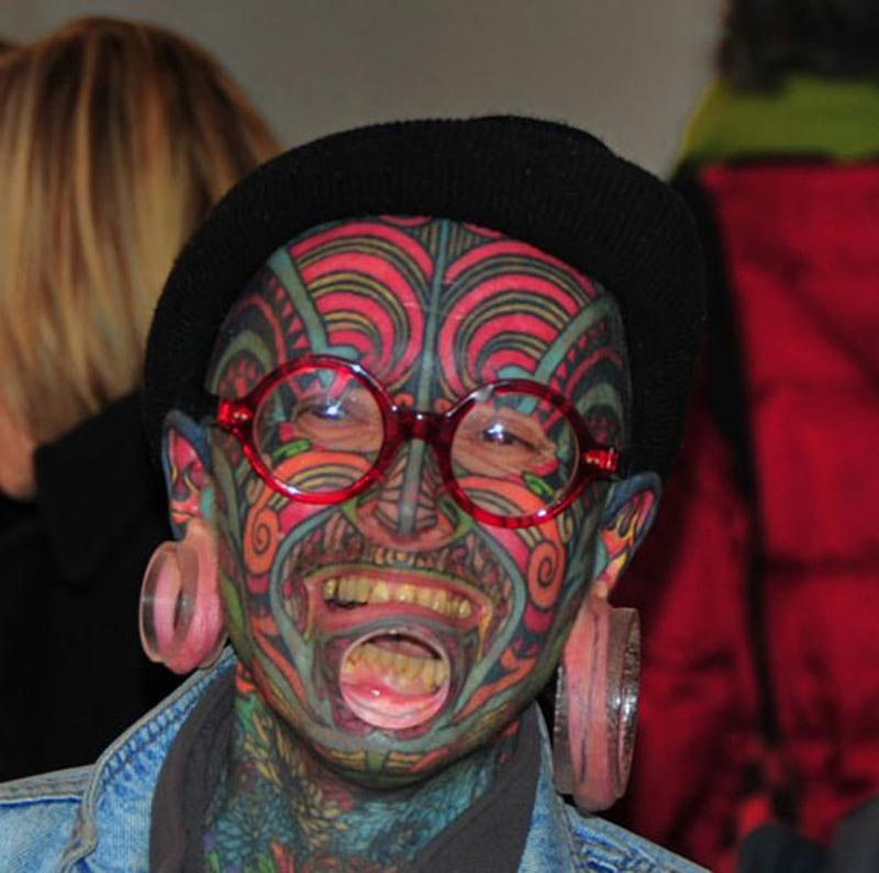 Full facial tattoo