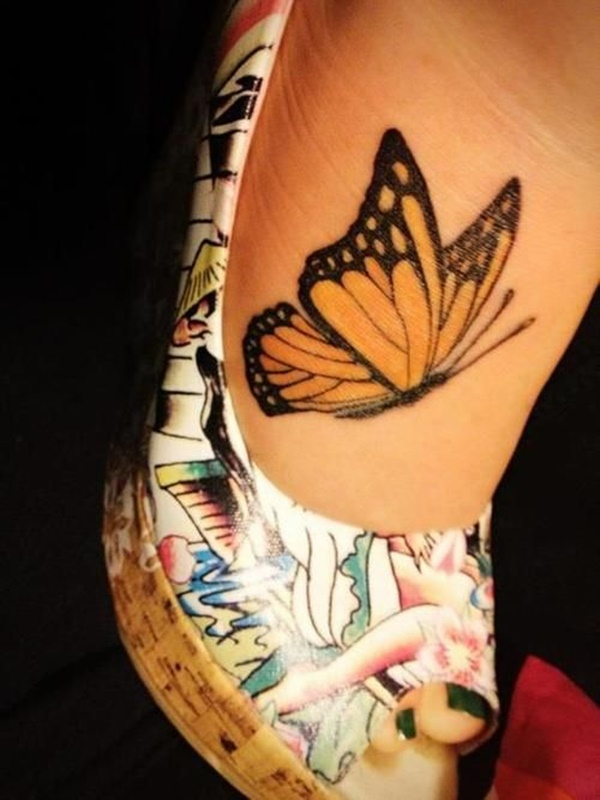 ca56d5228 Girl Side Rib Monarch Butterfly Tattoo