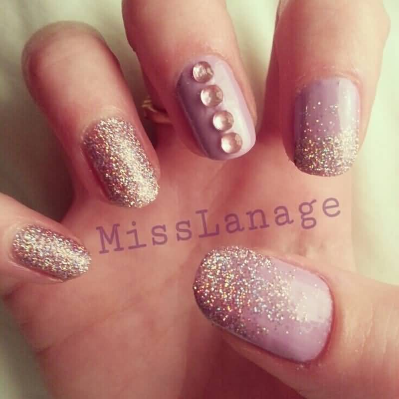 70 Most Stylish Glitter Gradient Nail Art Ideas