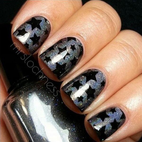 55+ Stunning Gray Nail Art Design Ideas