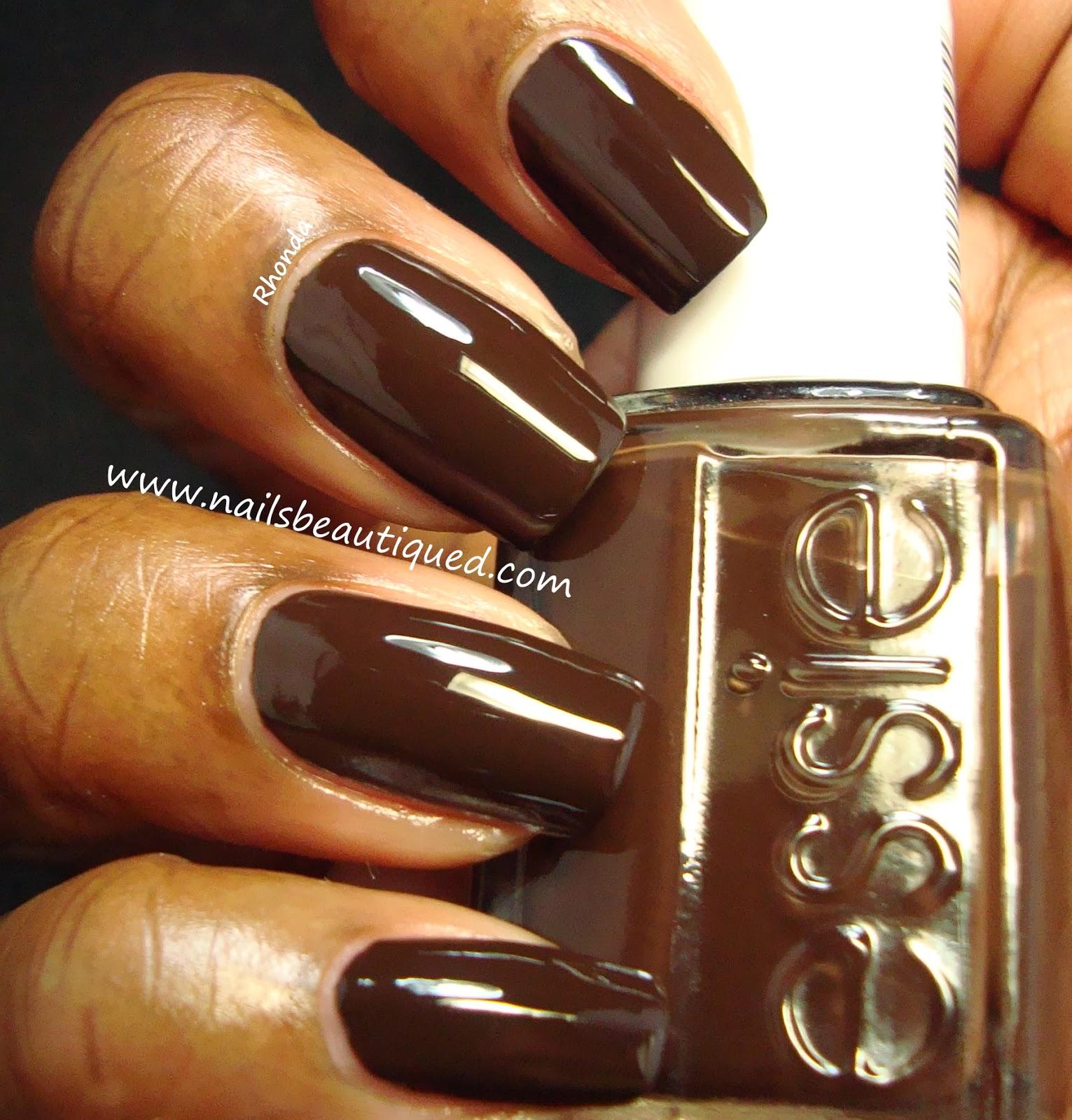 Acrylic Nail Designs Brown: Dark brown acrylic nail designs. Brown ...