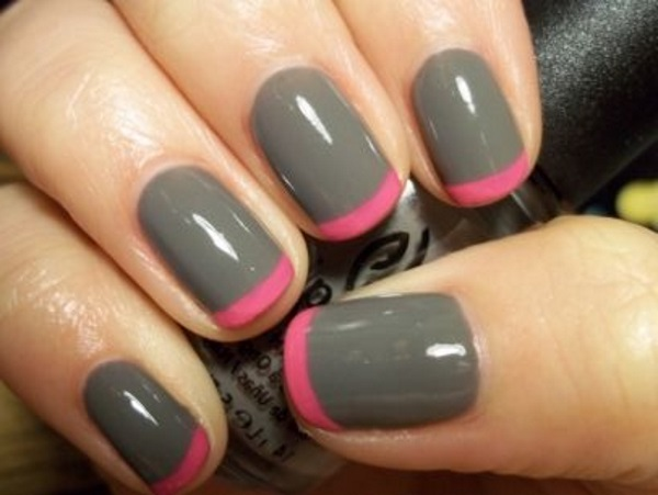 Glossy gray and glitter nail art 55 most beautiful gray nail art design ideas prinsesfo Image collections