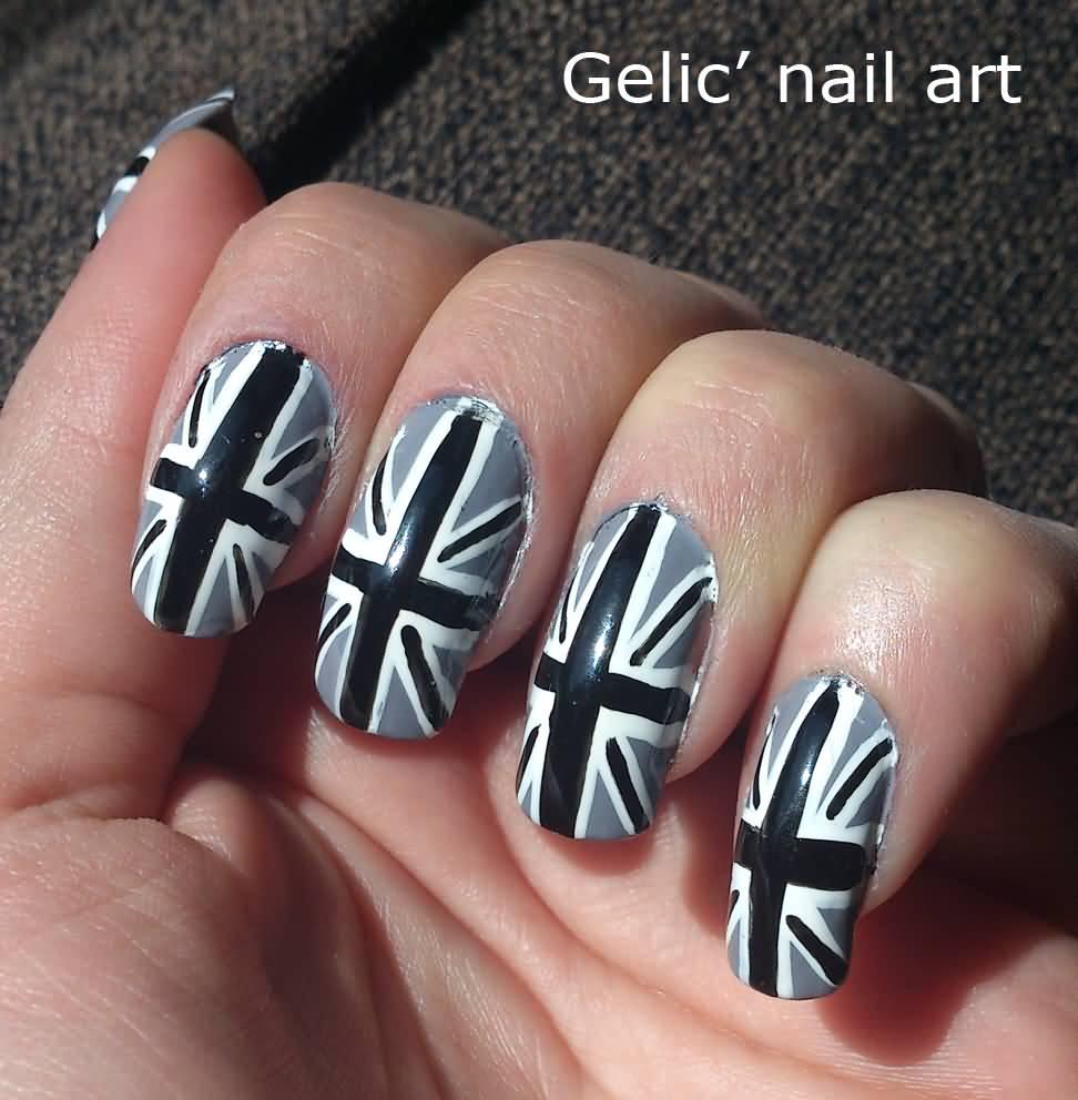 21 Stylish Black And Gray Nail Art Ideas