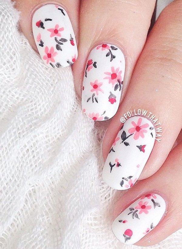50 Most Stylish Gray And Pink Nail Art Design Ideas