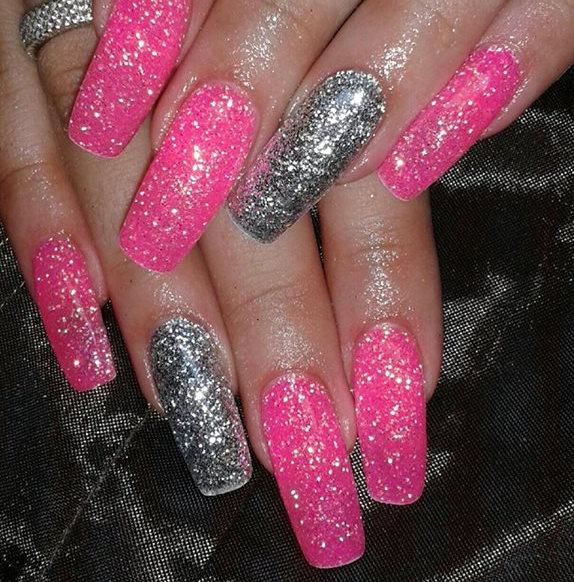 50+ Most Stylish Gray And Pink Nail Art Design Ideas