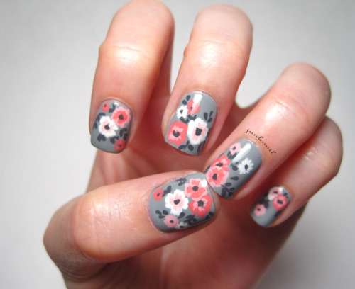 Pink and gray nail designs images nail art and nail design ideas 50 classy gray nail art design ideas gray nails with pink and white flowers nail art prinsesfo Image collections