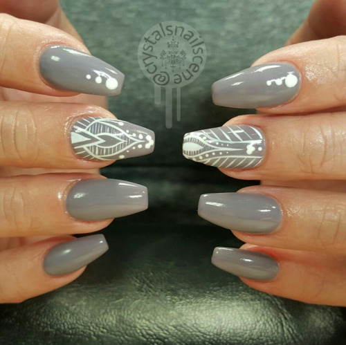 55 Most Beautiful Gray Nail Art Design Ideas