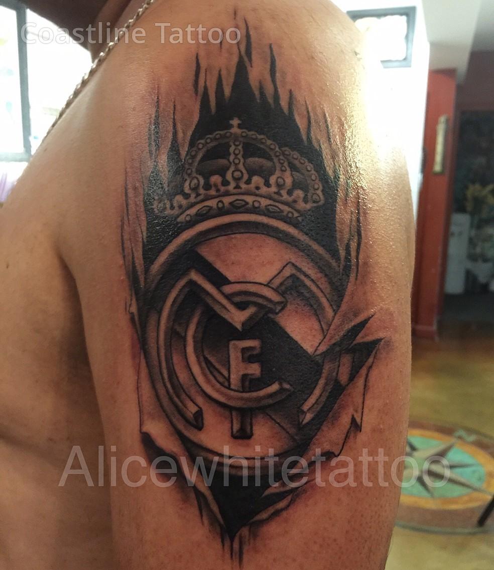 7 real madrid tattoo designs for Real madrid tattoos