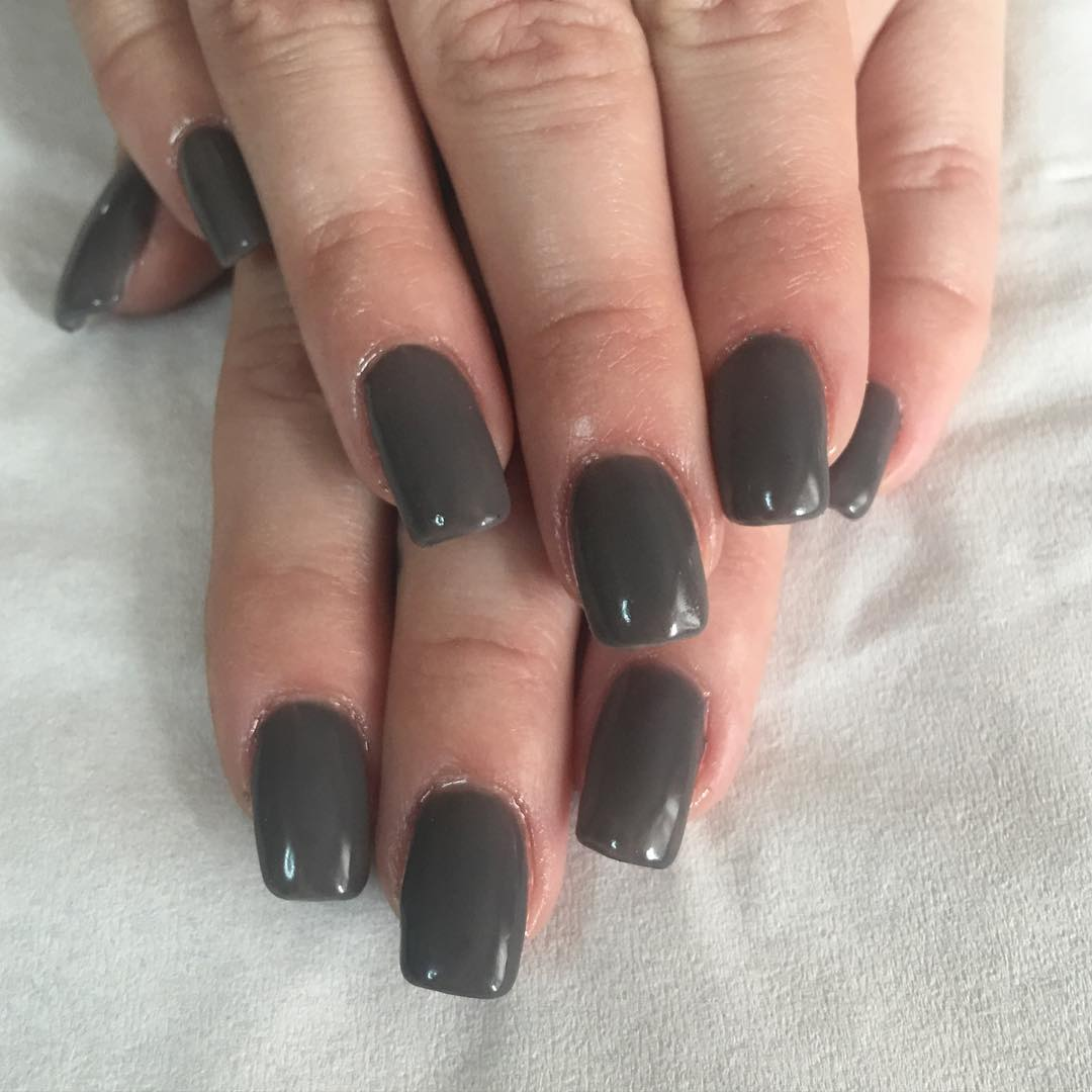 Christmas Acrylic Nails Grey: 55+ Stunning Gray Nail Art Design Ideas