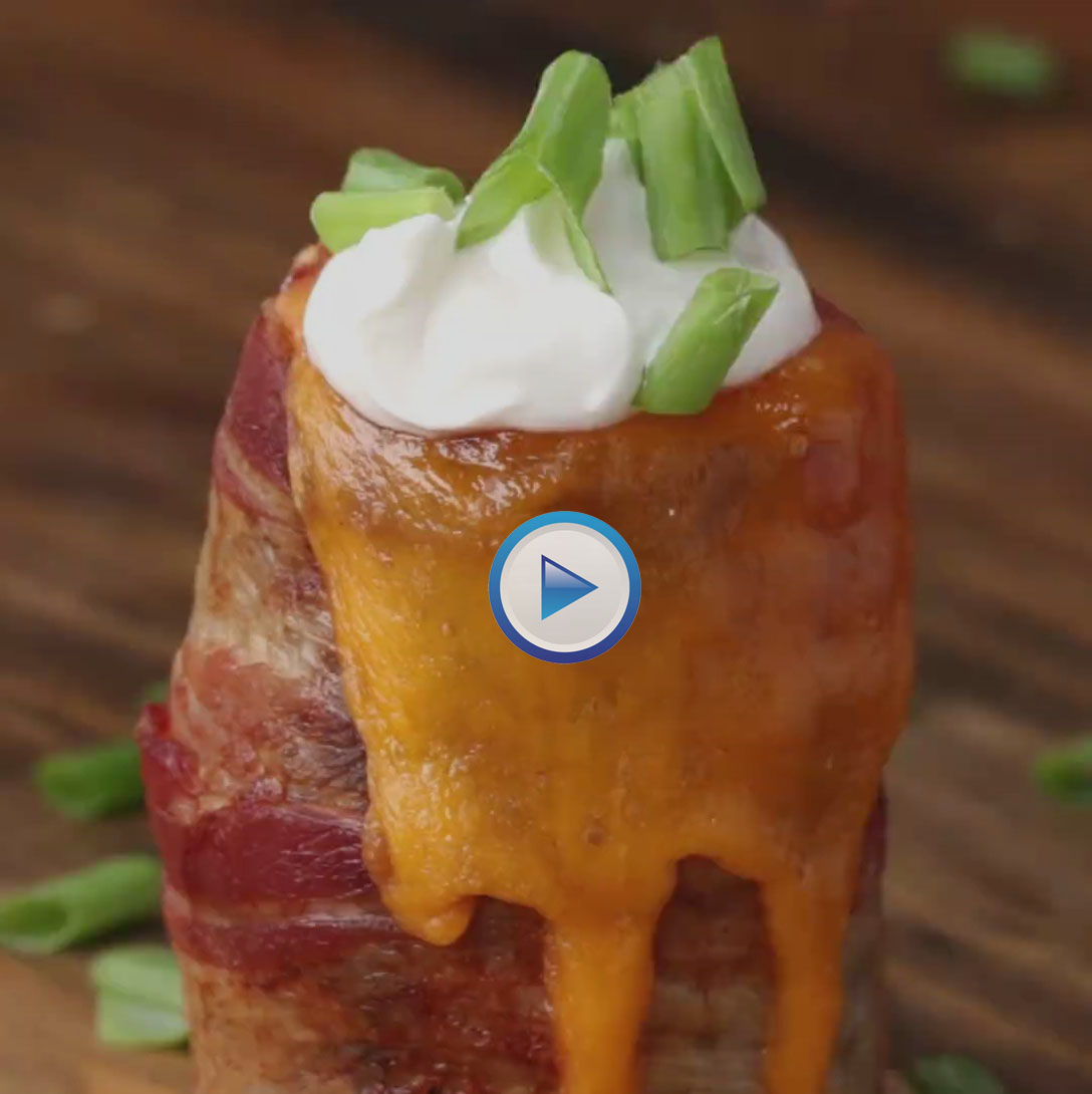Grilled Cheesy Potato Volcanoes Recipe With Video