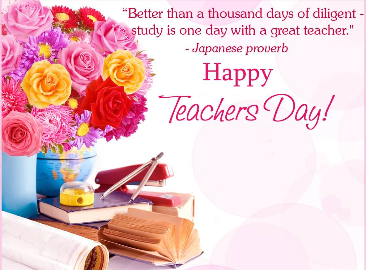 happy teachers day japanese proverb
