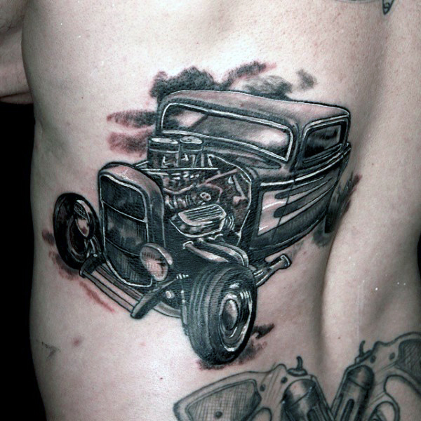 52 nice historical tattoos for Hot rod tattoos
