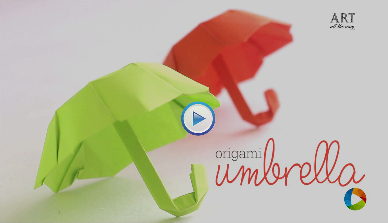 How To Make An Origami Paper Folding Umbrella Video