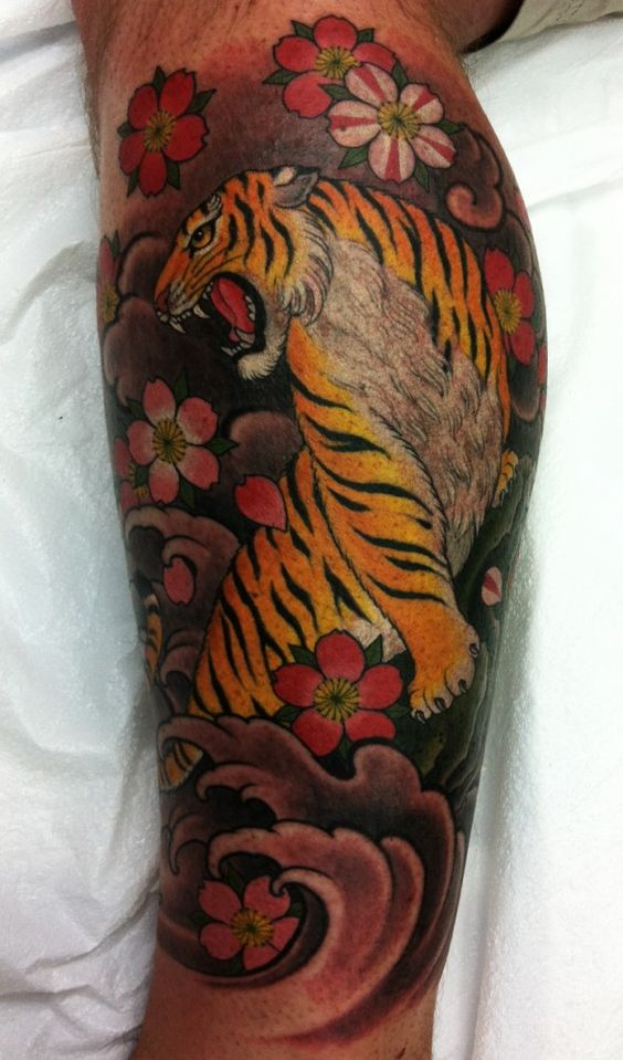 25 best chris garver tattoos ideas for Tiger thigh tattoos