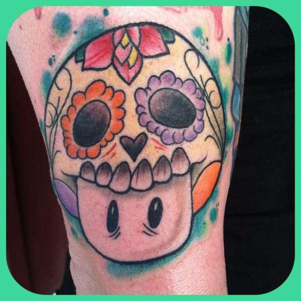 Mario Sugar Skull Tattoo