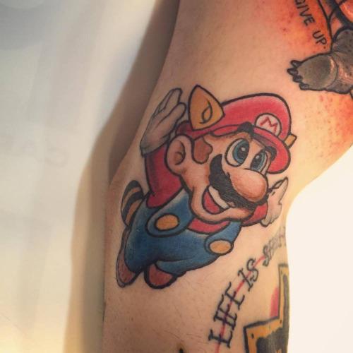 Mario Tanooki Tattoo By Mimi