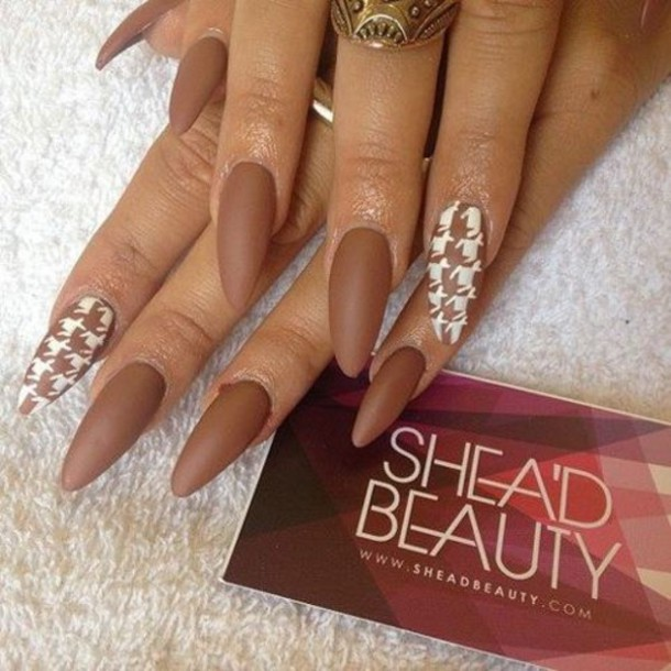 50 Most Beautiful Brown Nail Art Ideas