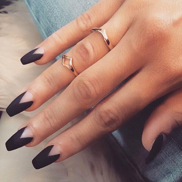25  cool dark gray nail art design ideas