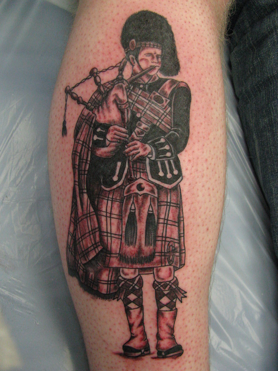 old school scottish logo tattoo on forearm. Black Bedroom Furniture Sets. Home Design Ideas