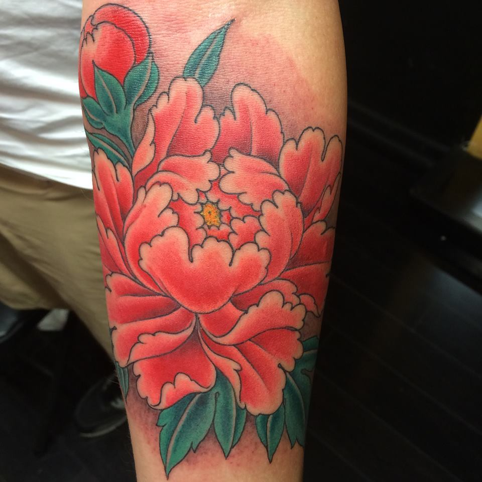 25 best chris garver tattoos ideas for Flower tattoo arm