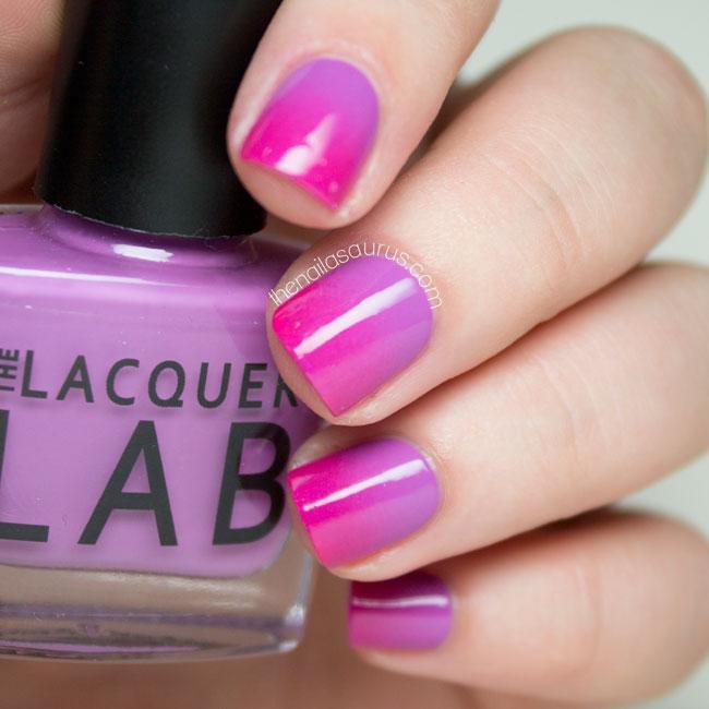 Pink An Purple Gradient Nail Art - 55+ Classy Purple Gradient Nail Art Ideas