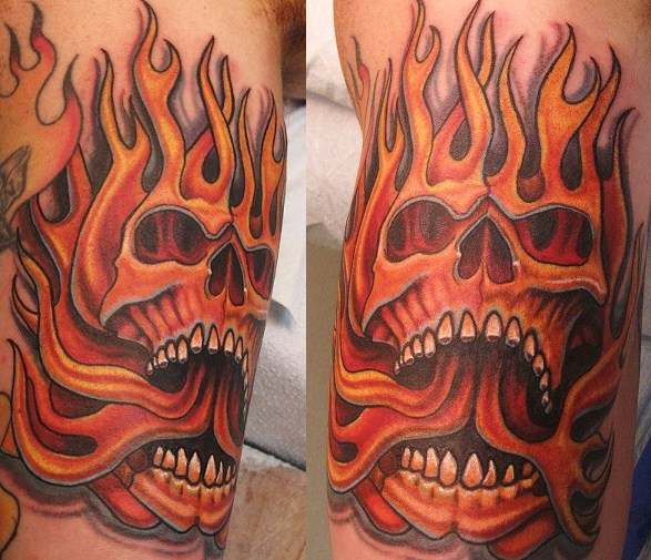 Flame Tattoos Designs Ideas And Meaning: 30+ Flame Skull Tattoos