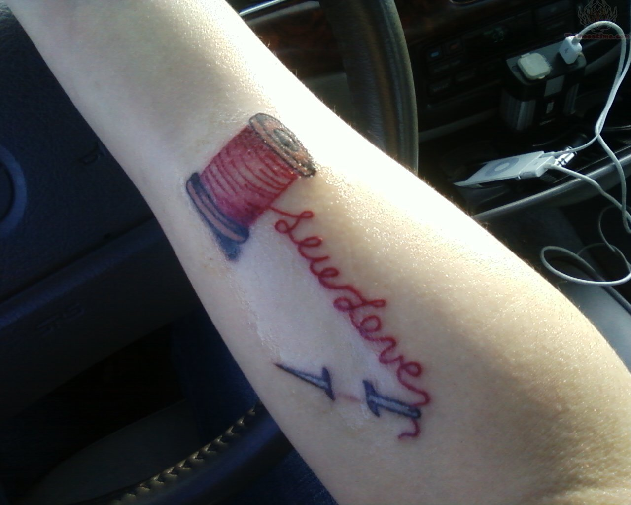 11 sewing tattoo designs for Sewing needle tattoo