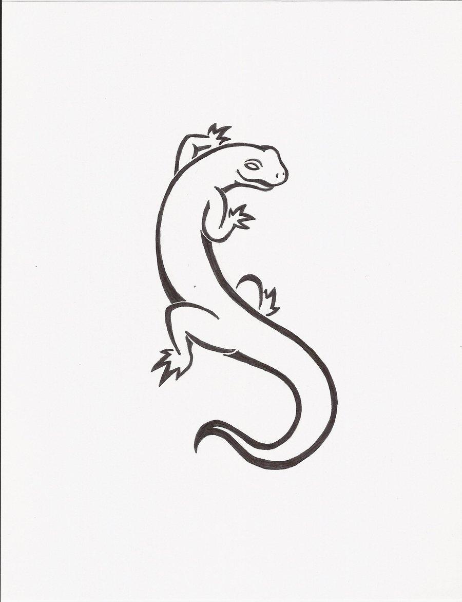 23  salamander tattoos designs