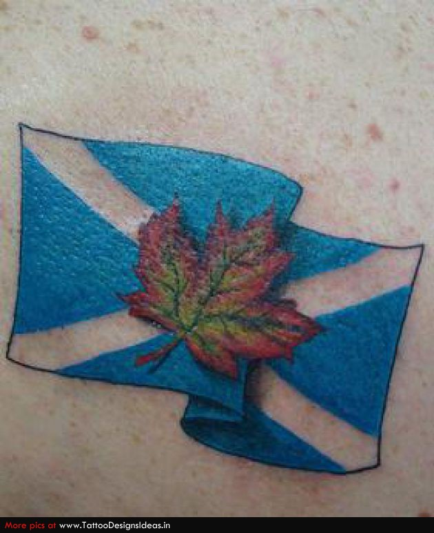 Scottish Flag Tattoo Ideas: 20+ Scottish Tattoo Designs