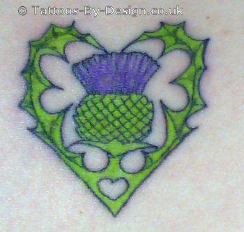 Tribal Heart With Banner 20+ Scottish Tattoo De...