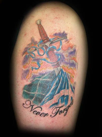 Scottish Highlander Tattoo Designs