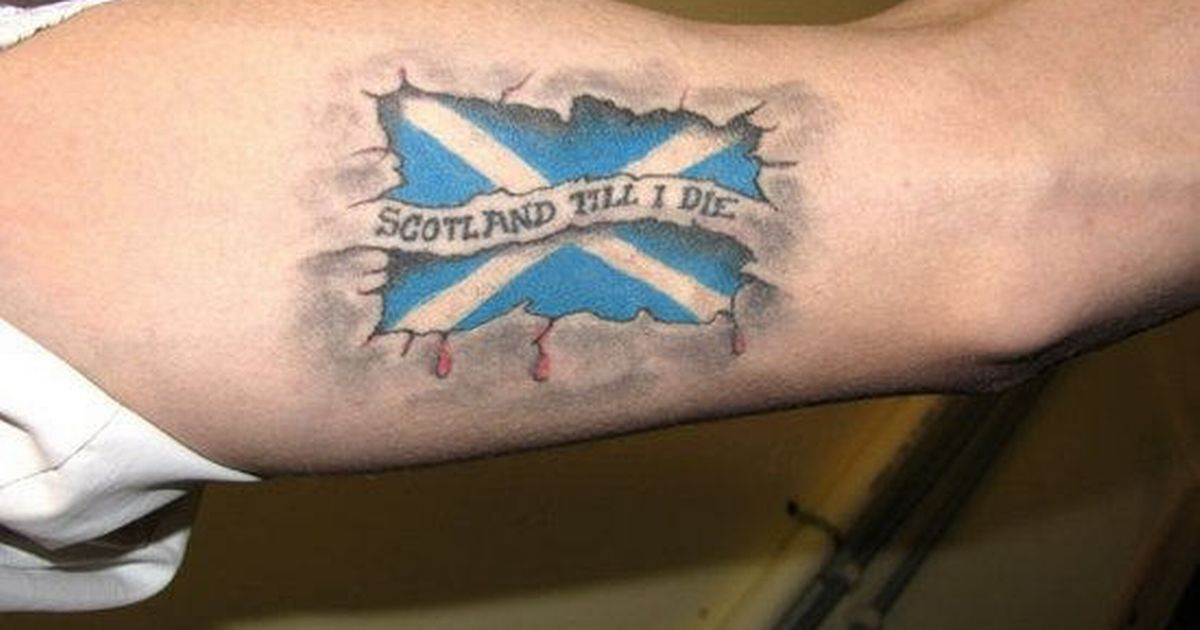 65 awesome scottish tattoos and ideas rh askideas com scottish flag temporary tattoos scottish flag tattoos designs