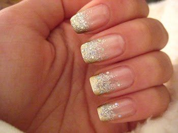 Nail designs gold and silver images nail art and nail design ideas 70 most stylish glitter gradient nail art ideas silver glitter and nude gradient nail art prinsesfo prinsesfo Gallery
