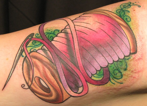 11 sewing spool tattoos ideas for Sewing needle tattoo