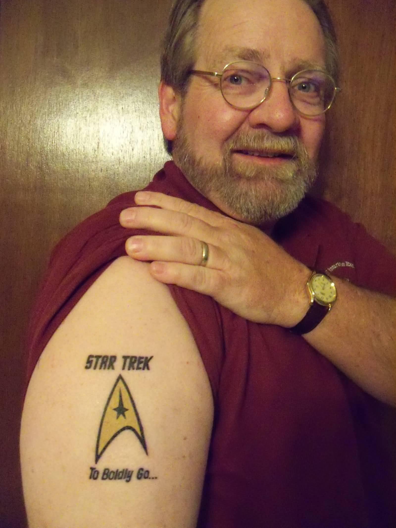 7 star trek tattoos on shoulder