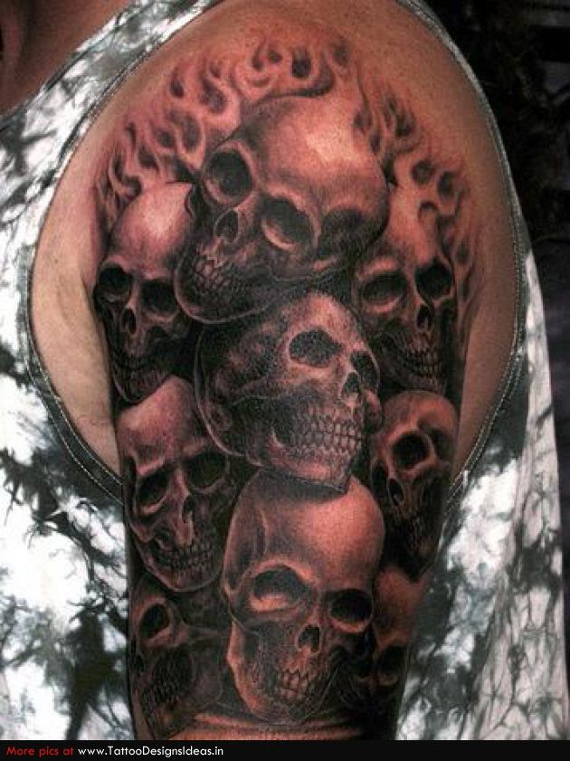 Ghost Skull Tattoo
