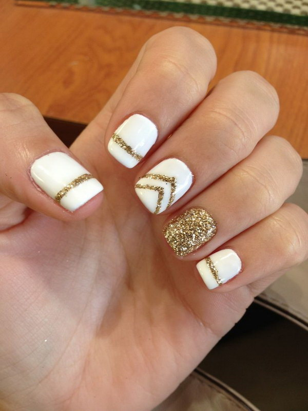 28 Burgundy Nails With Gold Design - Gold Design On Nails Choice Image - Easy Nail Designs For Beginners