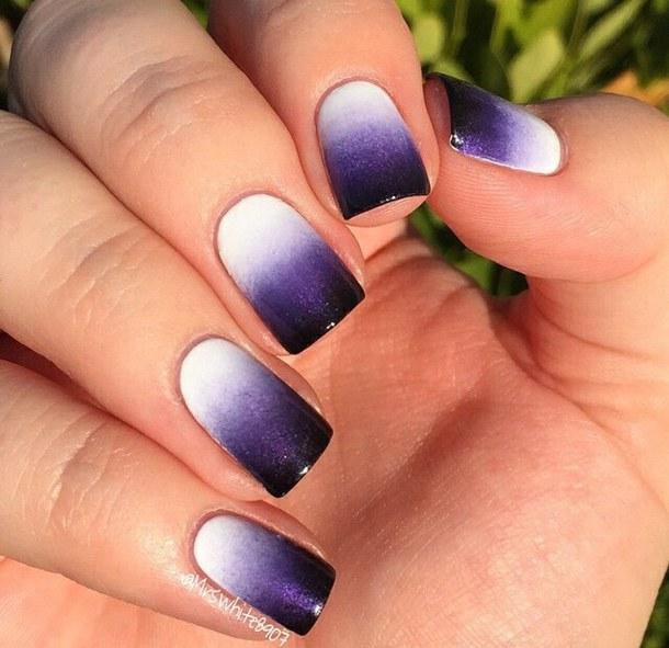 55+ Classy Purple Gradient Nail Art Ideas