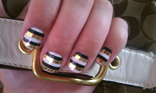Golden nail art striping tape best striping tape nail art design striping tape nail art for golden oldies tuesday lazy betty view images prinsesfo Images