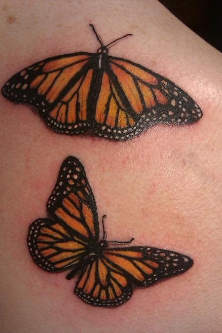 Monarch Butterfly On Flower Tattoo 32+ Monarch Butterfly ...