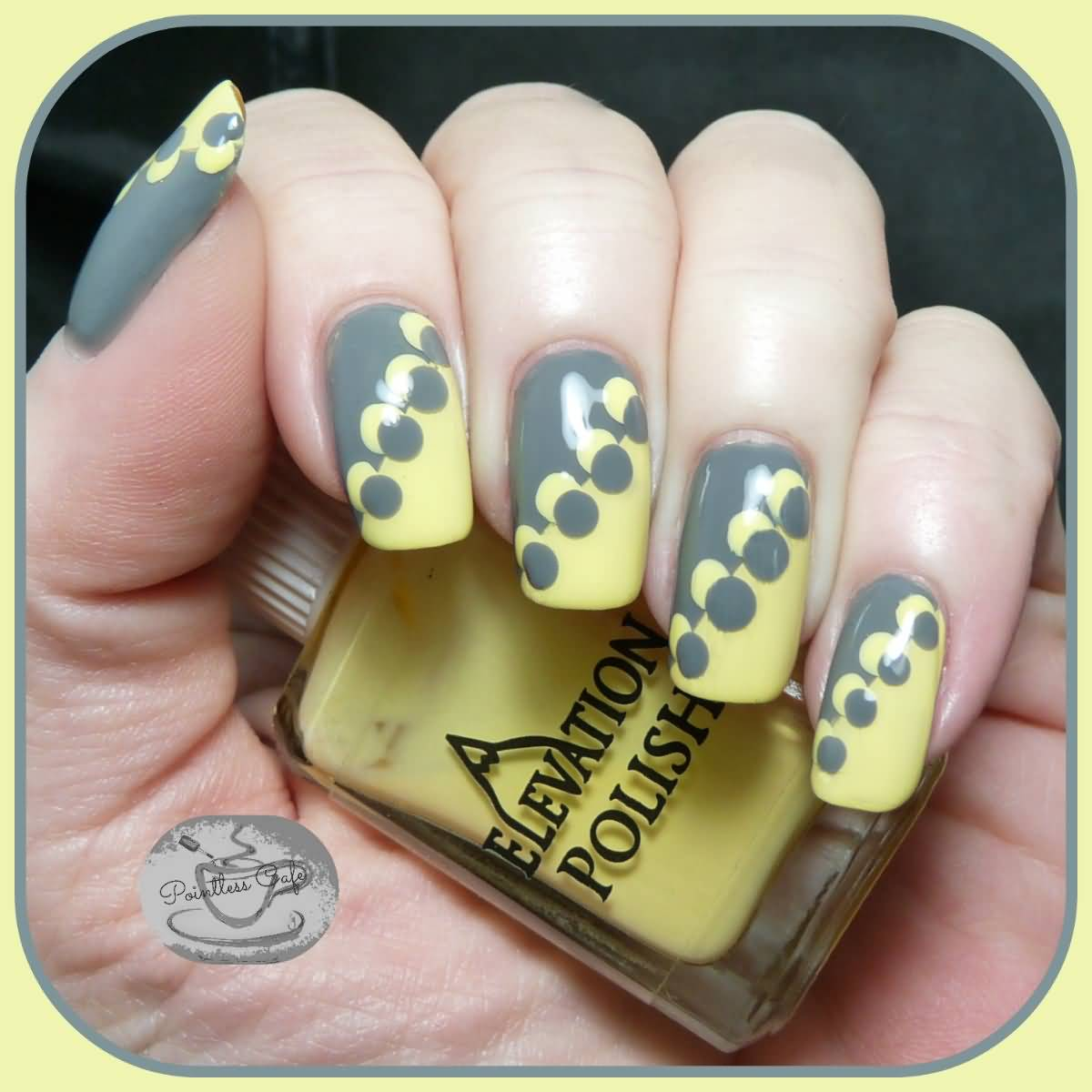 Grey and yellow nail polish designs best image nail 2017 for Yellow and gray design