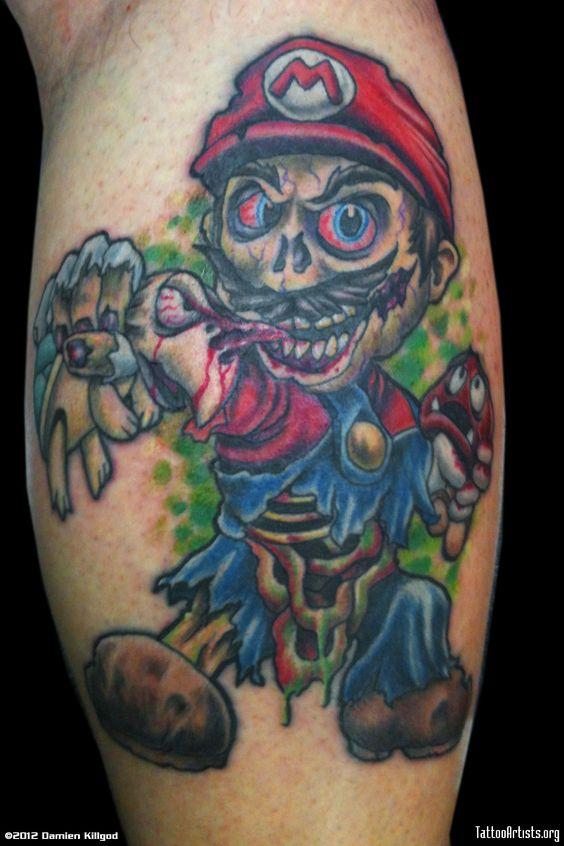 Zombie Mario Tattoo