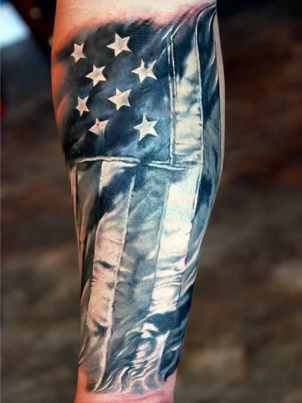 b90ffe3f4 51+ Amazing Us Flag Tattoos