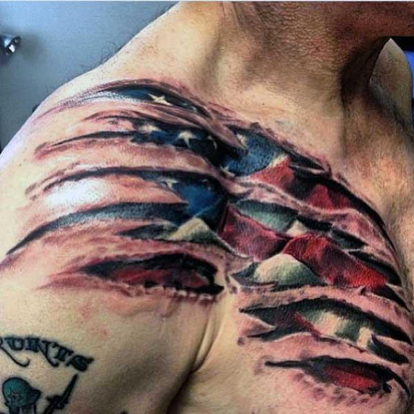 40+ US Flag Tattoos On Shoulder