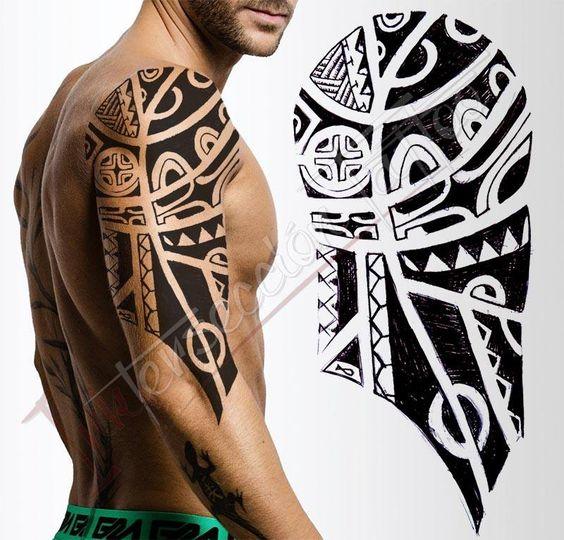 c22cc98f3 Amazing Maori Tattoo On Half Sleeve For Men