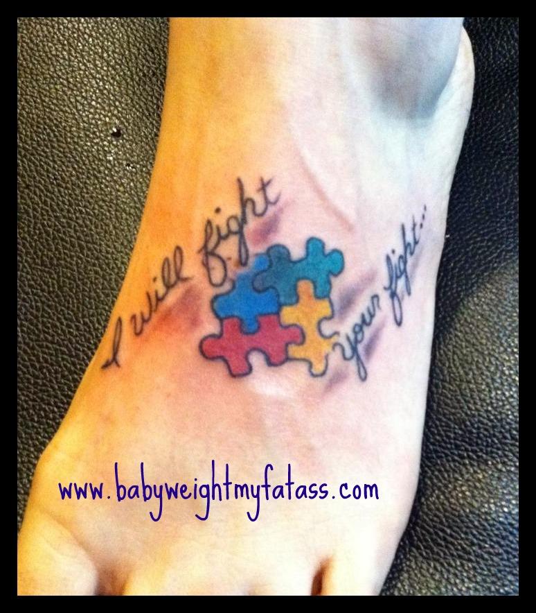 Autism Quotes For Tattoos Quotesgram: 33+ Autism Puzzle Tattoo