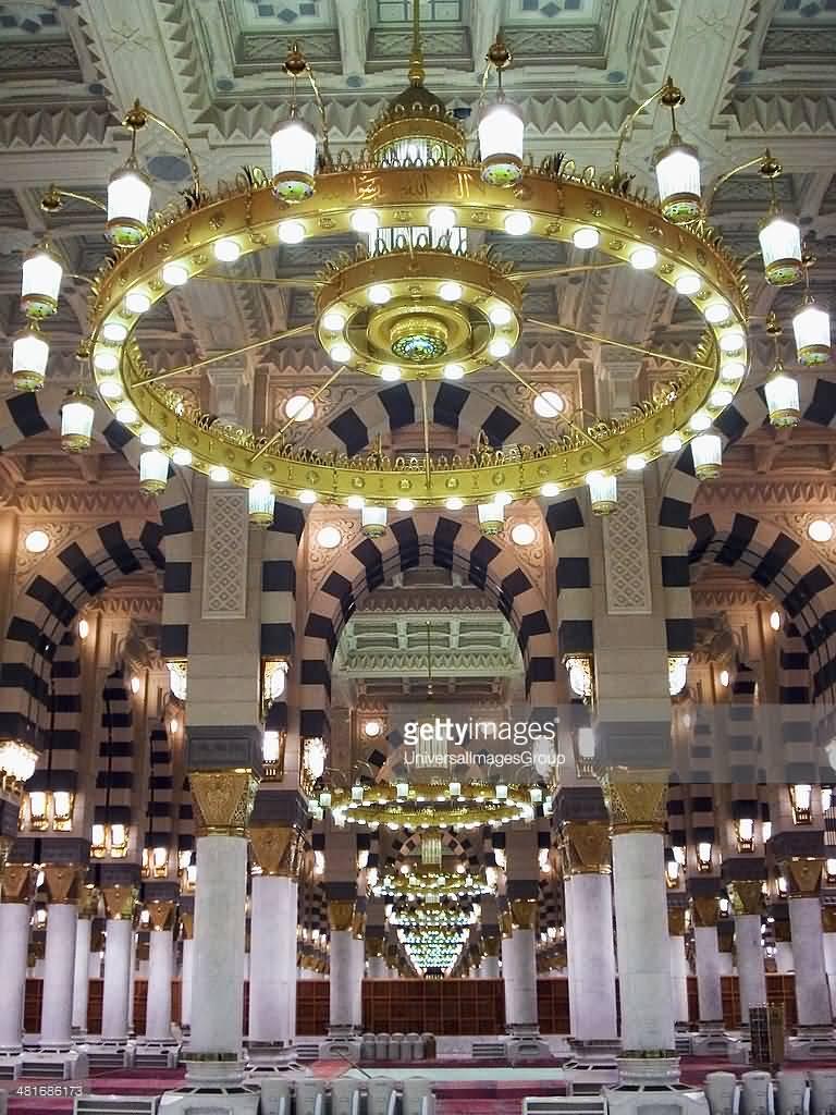 Beautiful Chandelier Inside The Masjid-al-Haram